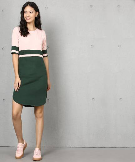 Metronaut Women Shift Green Dress - Buy Metronaut Women