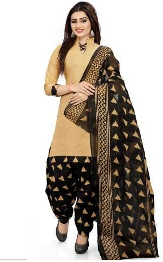 RENSILAFAB Crepe Printed Salwar and Dupatta Material