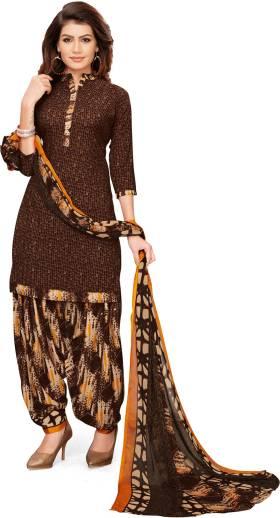 Saara Crepe Printed Salwar and Dupatta Material