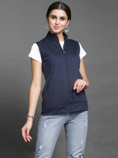 DARZISleeveless Solid Women Jacket