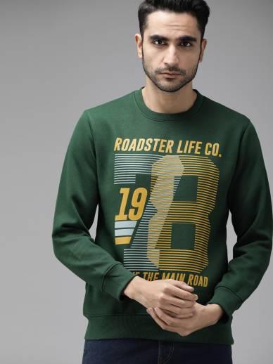 Full Sleeve Printed Men Sweatshirt