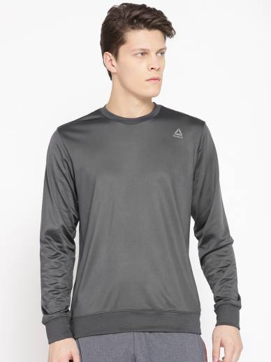 REEBOKFull Sleeve Solid Men Sweatshirt