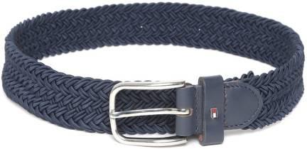 Tommy HilfigerMen Blue Genuine Leather Belt