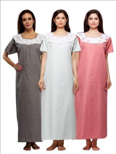 VedVid Women Nighty - Buy Multicolor VedVid Women Nighty Online at ... 9c774376b