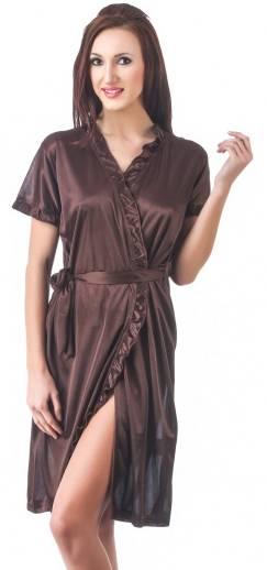 644e693306 Clovia Set of 2 Pc Satin Nightwear Women Solid Maroon Top   Shorts ...
