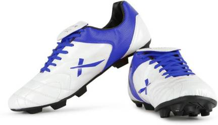Vector X Fusion White Blue Football Shoes For Men