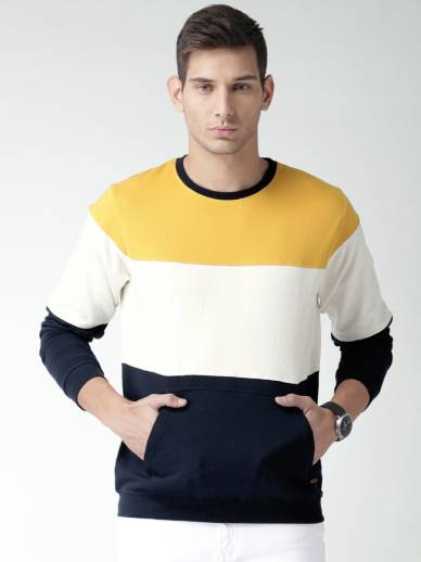 Mast   HarbourFull Sleeve Solid Men Sweatshirt