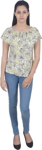 G   M Collections Party Sleeveless Floral Print Women Multicolor Top