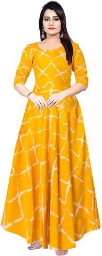 Women Maxi Yellow Dress