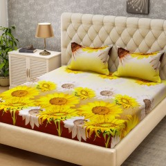 Min 50% Off - 3D Bedsheet Double Bed