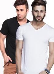 White V Neck T Shirt For Men