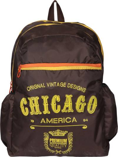 Shopharp Metro USA Chicago brn 12 L Laptop Backpack Brown
