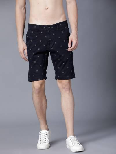 HIGHLANDERPrinted Men Blue Chino Shorts