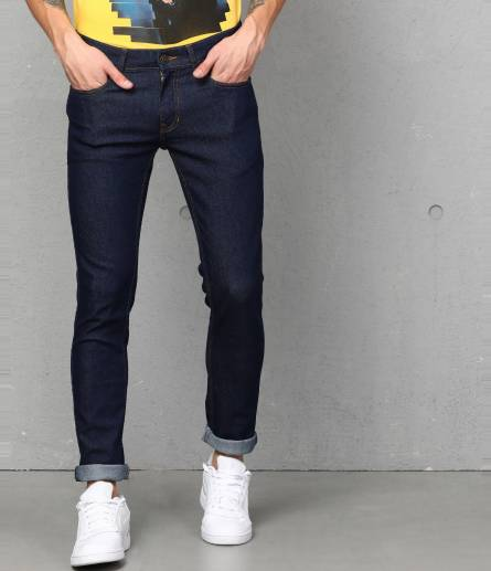 Skinny Men Dark Blue Jeans