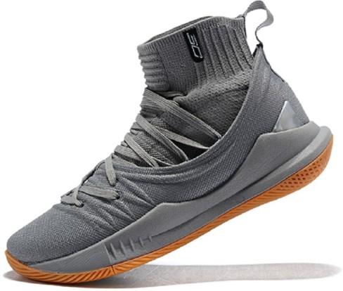 Sc Grey High Top Basketball Shoes Men