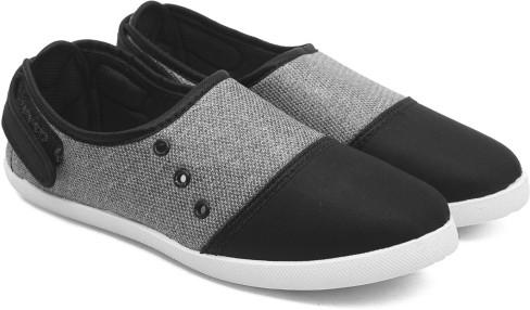 Asian Blush 35 Black Grey Canvas Shoes