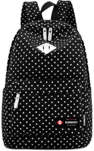 b7ddaeb804 Bonmaro Polka Dots 24 L Backpack (Black)