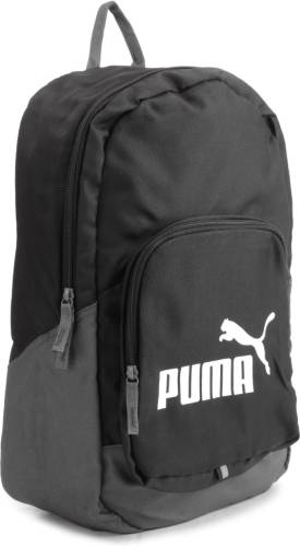 c21563d649 Puma FUNDAMENTAL SPORTS BLACK GREY Travel Duffel Bag (Black