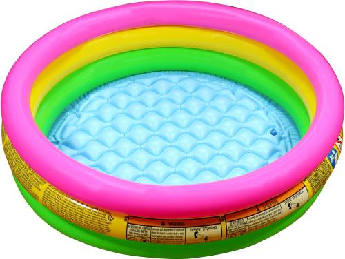 Intex 3ft Inflatable Baby Pool Baby Bath Seat (Pink, Yellow, Green ...