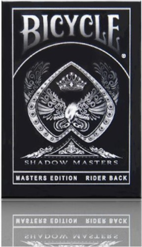 2 DECKS BICYCLE ELLUSIONIST 1 SHADOW MASTERS AND 1 GHOST WHITE PLAYING CARDS NEW
