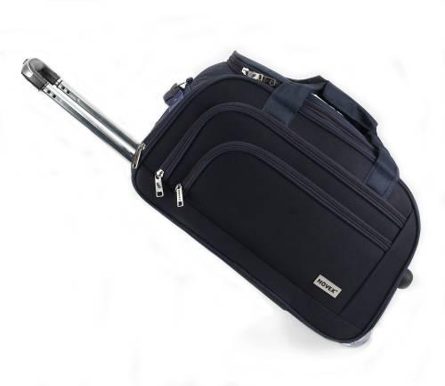 0dee5e691 Novex Solo 22 inch 55 cm (Expandable) Duffel Strolley Bag (Blue)