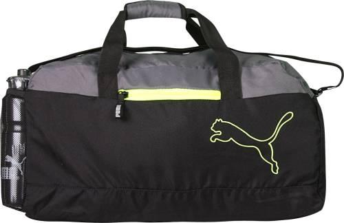a1dca97ddf1 Puma FUNDAMENTAL SPORTS BLACK GREY Travel Duffel Bag (Black, Grey) Price in  India | Buy Puma FUNDAMENTAL SPORTS BLACK GREY Travel Duffel Bag (Black, ...