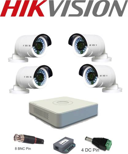 Hikvision 4ch DVR 4 Channel Home Security Camera (4 TB
