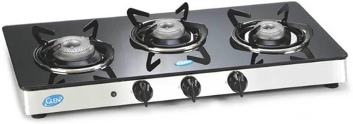 image of glen 3 burner gas stove with auto ignition