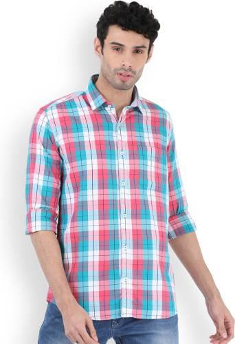c1a20836158 LAWMAN PG3 Men s Checkered Casual Pink Shirt
