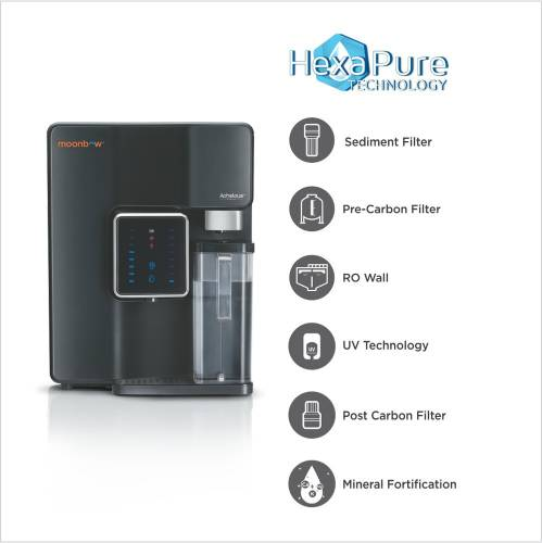 Image of Moonbow Achelous Premium 7L RO + UV Water Purifier which is one of the best water purifiers under 19000