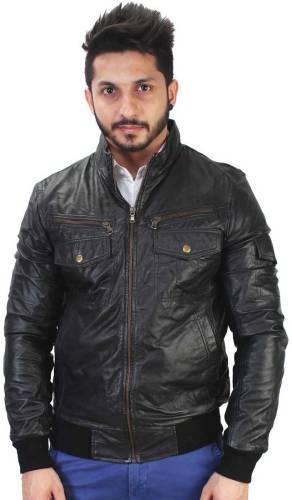 3cd5ec88be7 Bareskin New Black Leather Jacket for Men Price in India