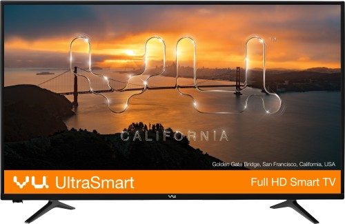 Image of VU 40 inch TV which is one of the best led tvs in India