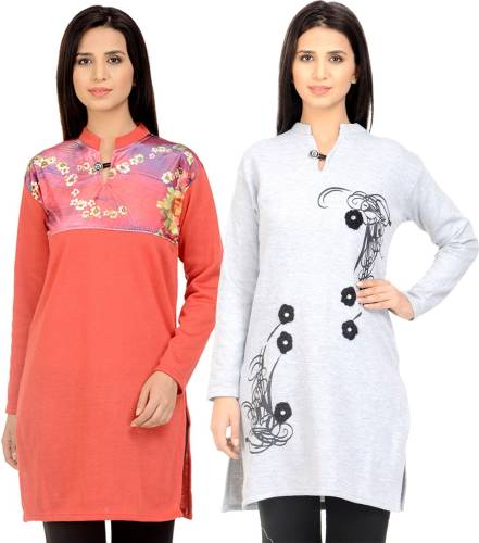 138c848be Rakshita s Collection Beige Woollen Kurti Price in India