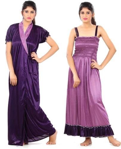 c09a78af73 Fashigo Women s Nighty with Robe (Purple)