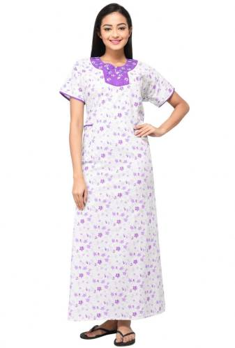 Eazy Women s Maternity Nursing Nighty (Purple) Price in India  6424c87d8
