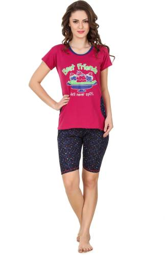 c7057a8406 Carlo Rossi Women s Printed Pink Top   Shorts Set Price in India ...