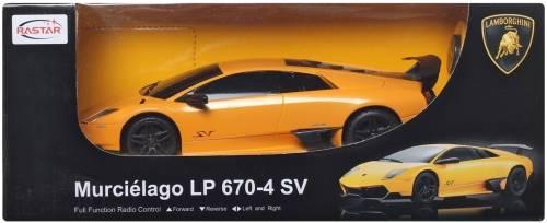 rastar lamborghini murcielago lp 670-4 sv remote control toy (yellow