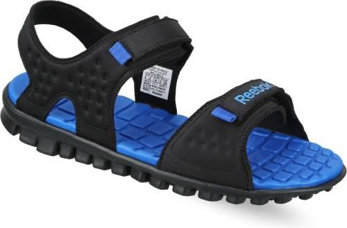 7ca59975988 Reebok Men BLACK STEEL BLUE Sports Sandals