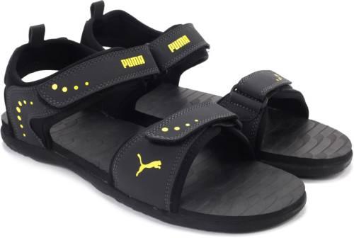 35d772eb2ea174 Puma Men Dark Shadow-Dandelion Sports Sandals