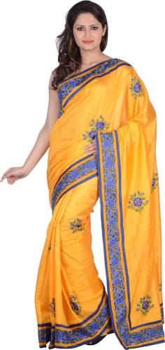 2de3150fbf7 RB Sarees Embroidered Fashion Tussar Silk Sari (Beige