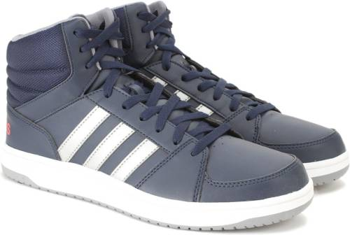 Adidas Neo HOOPS VS MID Mid Ankle Sneakers (Navy) Price in