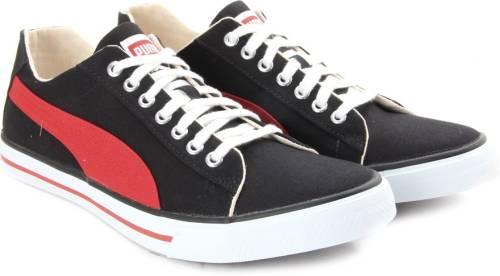 f99bcac9003581 Puma Hip Hop 5 Ind. Men Canvas Sneakers (Black)