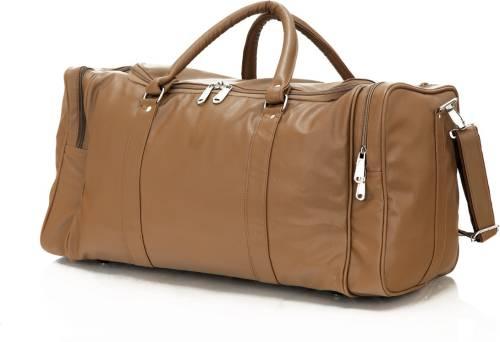 Mboss Faux leather Unisex Beige Single Small Travel Bag - Medium (Beige) d87dfc32e5670