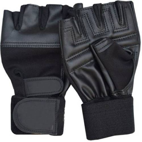 7040e7830 Mor Sporting Weight Lifting nk-02 Black Gym   Fitness Gloves (Free Size