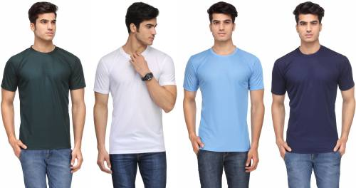 e858956caaa Rico Sordi Solid Men s Round Neck Multicolor T-Shirt (Pack of ...