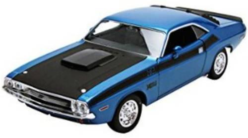 Welly 1970 Dodge Challenger T/A 1:24 Die-Cast Model (Met Blue)