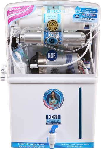93295f5c2a3 Kent Grand Plus TDS 8 L RO + UV +UF Water Purifier (White) Price in India