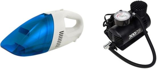 AUTOSiTY Combo of 12V DC Car Vacuum Cleaner Heavy Duty + Air