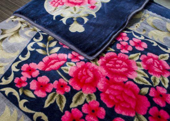 Penguin Kasturi Floral Double Blanket Navy Blue - Buy Penguin