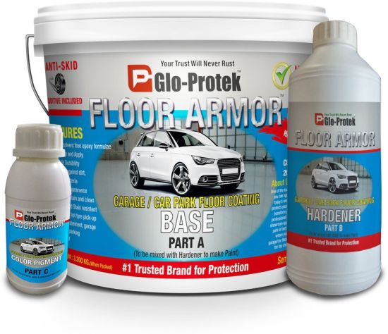 Glo-Protek Floor Armor - Garage / Car Park Floor Coating Kit Epoxy